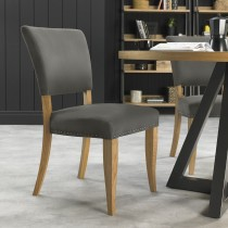 Casa Finsbury Upholstered Chair, Dark Grey