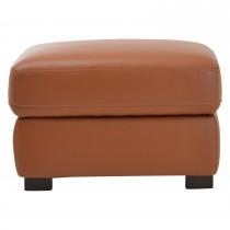 Harry Leather Storage Footstool, Brown