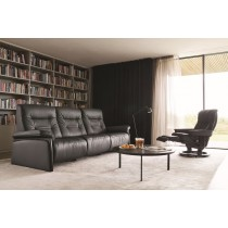 Stressless Mary Wood 3Str Double Power Recliner Sofa