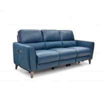 Casa Archie 3 Str Ratchet Pwr Rec 3 Seat, Ocean Lthr & Altara Denim Fab