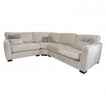 Casa Seattle Fabric Corner Group Sofa, Oyster