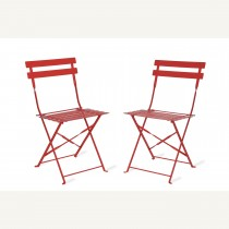 Garden Trading Pair Of Bistro Chairs, Watermelon
