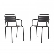 Garden Trading Pair Of Dean Street Chairs, Carbon