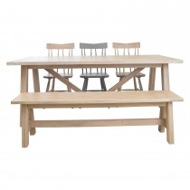Casa Cleeves Table,bench & 3 Chairs Dining Set