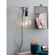 Garden Trading Soho Wall Light, Carbon