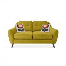 Orla Kiely Laurel Small Sofa 2 Seat, Eske Yellow Olive