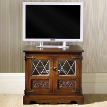 Old Charm Video Oak TV Unit