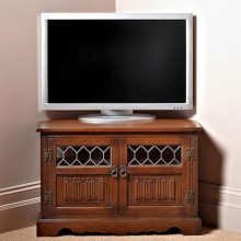 Old Charm Corner Tv/video Cabinet Oak Tv Unit