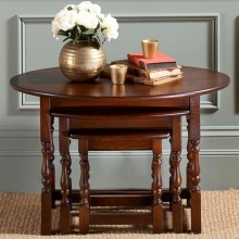 Old Charm Oval Nest Of Tables, Oak