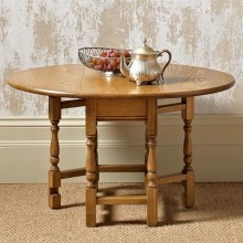 Old Charm Occasional Gateleg Table, Oak