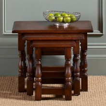 Old Charm Nest Of Tables, Oak