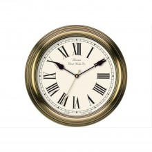 Acctim Redbourne Wall Clock, Gold