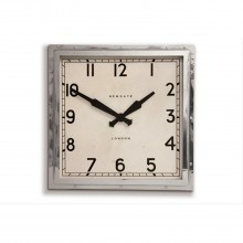 Newgate Clocks Quad Clock Chrome Stainless Steel Wall