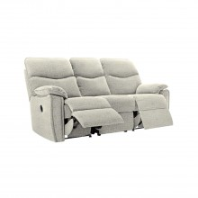 G Plan Henley Three Seater Manual Double Recliner Fabric Sofa