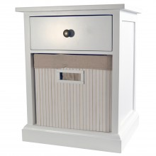2 Drw Bamboo&wood Wht Unit