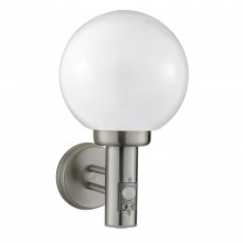 Outdoor Wall Globe Sensor Light, Stainless Steel