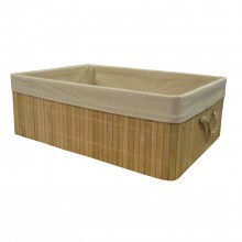 Nat Bamboo Large Basket, Natural