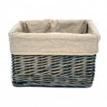 Willow Small Storage Basket, Grey