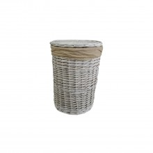Willow Laundry Basket Small, White