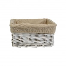 Willow Storage Basket, White