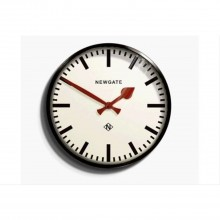 Newgate Clocks Putney Wall Clock Blk Matte Black Wall