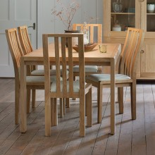 Ercol Bosco Small Extending Table & Six Chairs Dining Set