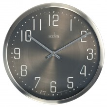 Acctim Alvik Brushed metal Wall Clock, Chrome