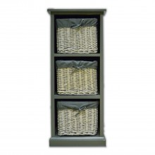 Grey Wood/willow 3 Drawer Unit