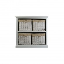 Wht Wood And Willow 4 Drawer Unit, White