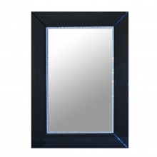 Black Glass Border Mirror Black Rectangle