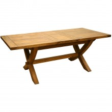 Mango Creek X Leg Ext Table Brown Table