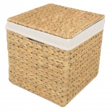 W/h Lidded Hamper S Natural Small