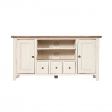 Cotswold Tv Stand, White And Brown