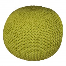 Knitted Pouffe, Lime