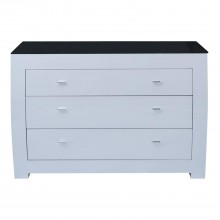 Emily Three Drawer Dresser, White