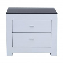 Emily Bedside Table, White