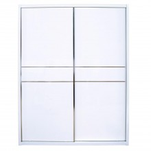 Emily Sliding Door Wardrobe, White