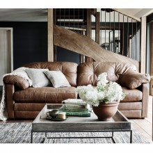Alexander & James Bailey Three Seater Leather Sofa