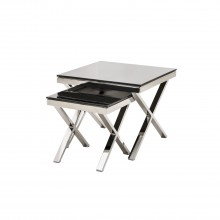 Zara Nest Of Tables Silver Nest Table