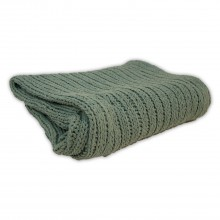 Tinke Knit Throw, Aqua