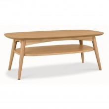 Milton Coffee Table With Shelf, Oak