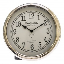Daniel & Ashley Porthole Clock, Silver