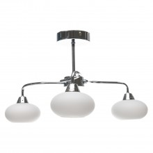 Lovato 3 Light Ceiling Fitting, Chrome