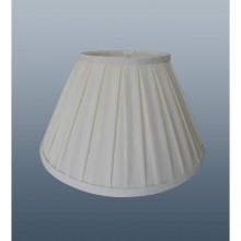 "18"" Enya Box Pleat Shade, Cream"