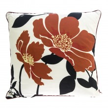 Poppy Cushion Rust Square