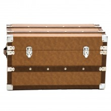 Traveller Leather Trunk Small, Brown