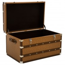 Traveller Leather Trunk Brown Medium