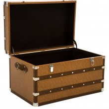 Traveller Leather Trunk Large, Brown