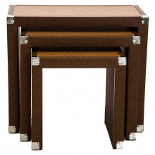 Table Nest Of 3, Brown