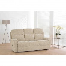 Worcester Three Seater Recliner Fabric Sofa, Oatmeal